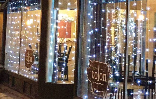 Tolon Restaurant Exterior Holiday Decor
